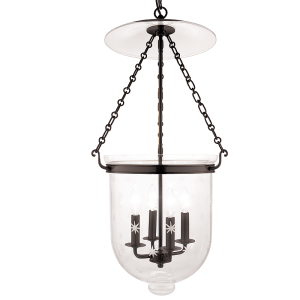 255-OB-C3_Hudson Valley Hampton 4-Light Lantern and Pendant in Patterned Glass with Old Bronze Accents