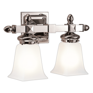 2822-PN_Hudson Valley Cumberland 2-Light Bath Sconce in a Polished Nickel Finish