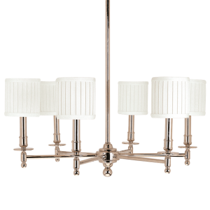 306-PN_Hudson Valley Palmer 6-Light Chandelier in a Polished Nickel Finish
