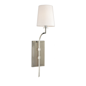 3111-PN_Hudson Valley Glenford Single Light Wall Sconce in a Polished Nickel Finish