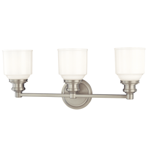 3403-SN_Hudson Valley Windham 3-Light Bath Sconce in a Satin Nickel Finish