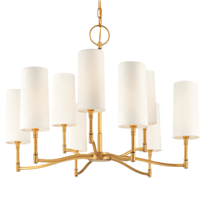 369-AGB_Hudson Valley Dillon 9-Light Chandelier in an Aged Brass Finish