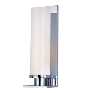 420-PC_Hudson Valley Thompson Single Light Round Glass Bath Sconce in a Polished Chrome Finish