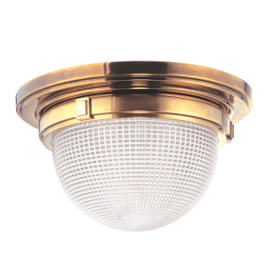 4415-AGB_Hudson Valley Winfield 2-Light Flush-Mount Ceiling Fixture in Aged Brass