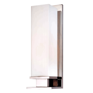 520-PN_Hudson Valley Thompson Single Light Rectangular Glass Bath Sconce in a Polished Nickel Finish