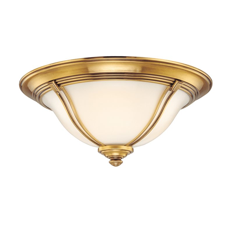 5411-FB_Hudson Valley Carrollton Single Light Flush Mount Ceiling Fixture in a Flemish Brass Finish