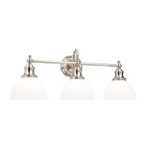 5903-PN_Hudson Valley Sutton 3-Light Bath Sconce with an Opal Shade and Polished Nickel Accents