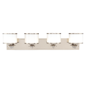 6104-SN_Hudson Valley Basking Ridge 4-Light Bath Sconce in a Satin Nickel Finish