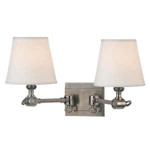 6232-HN_Hudson Valley Hillsdale 2-Light Wall Sconce in an Historic Nickel Finish