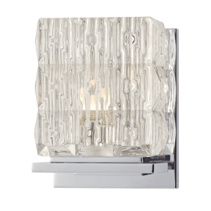 6241-PC_Hudson Valley Torrington Single Light Bath Sconce in Prismatic Glass and Polished Chrome