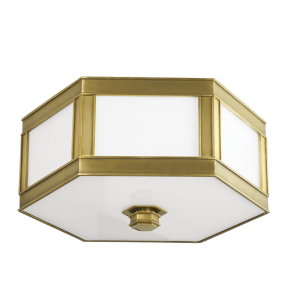 6413-AGB_Hudson Valley Nassau 2-Light Flush Mount Ceiling Fixture in an Aged Brass Finish