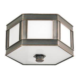 6416-OB_Hudson Valley Nassau 3-Light Flush Mount Ceiling Fixture in an Old Bronze Finish