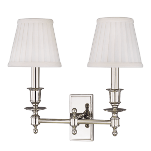6802 Hudson Valley Ludlow 2Arm Wall Sconce in Polished Nickel