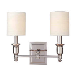 7502-PN_Hudson Valley Whitney 2-Light Wall Sconce in a Polished Nickel Finish