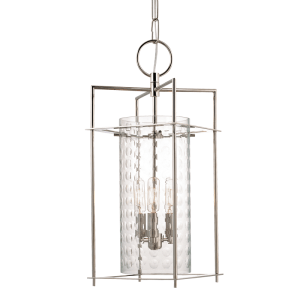 7609-PN_Hudson Valley Esopus 3-Light Lantern in a Polished Nickel Finish
