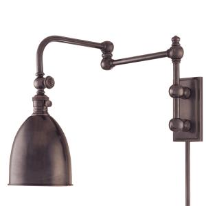 771-OB_Hudson Valley Roslyn Single Light Wall Swing Arm Lamp in an Old Bronze Finish
