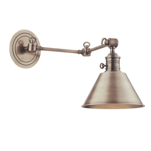 8322-AN_Hudson Valley Garden City Single Light Wall Swing Arm Lamp in an Antique Nickel Finish