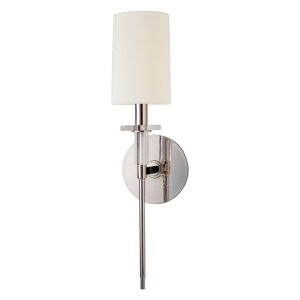 8511AGB Hudson Valley Amherst Single Arm Wall Sconce in a Polished Nickel Finish