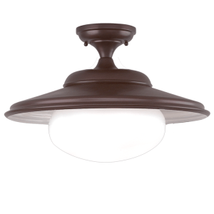 9109-OB_Hudson Valley Independence Single Light Semi-Flush Ceiling Fixture in an Old Bronze Finish