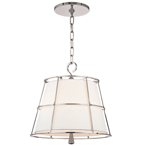 9816-PN_Hudson Valley Savona 2-Light Pendant with a Polished Nickel Cage