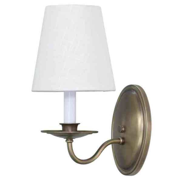 LS217-AB_House of Troy Lake Shore Single Light Wall Sconce in an Antique Brass Finish