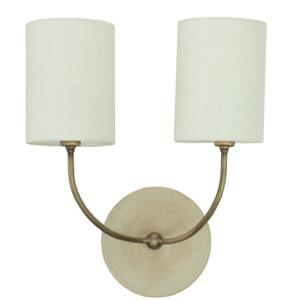 GS775-2-ABOT_House of Troy Scatchard 2-Light Wall Sconce in Oatmeal with Antique Brass Accents