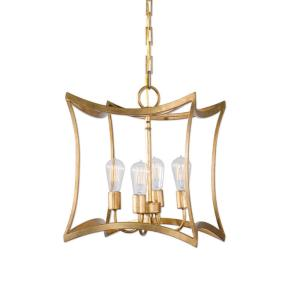22074_Uttermost Dore 4-Light Pendant in a Gold Leaf Finish