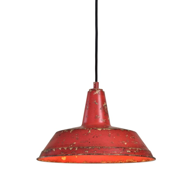22088_Uttermost Pomodoro Single Light Distressed Red Pendant