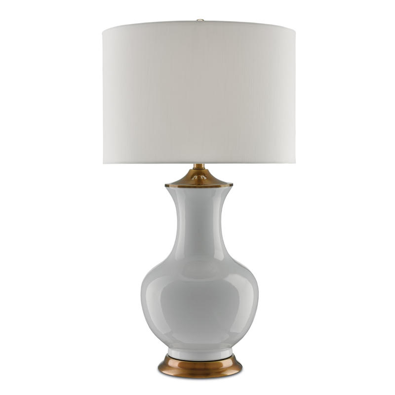 Currey Lilou White Ceramic Table Lamp