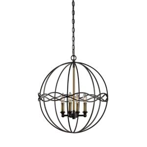22098_Uttermost Onduler 4 Light Pendant in Dark Bronze