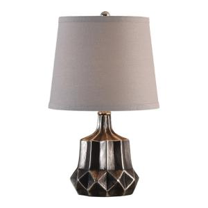 29366-1_Uttermost Felice Dark Charcoal Table Lamp witha Metallic Silver Undertone
