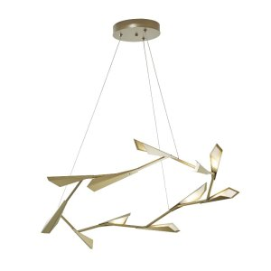135005D-82-Hubbardton Forge Large Quill Circular Adjustable Height Pendant Light