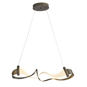 139833D-07-Hubbardton Forge Zephyr Adjustable Pendant in Dark Smoke