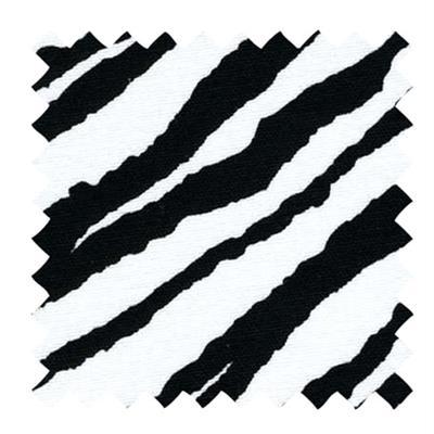 L501 - White Linen with a Black Zebra Print