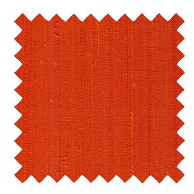 L517 - Dupioni Silk Fabric in Orange