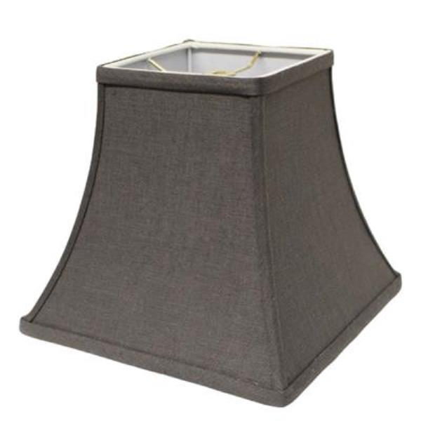 Square Bell Hardback Lampshade in Grey Linen