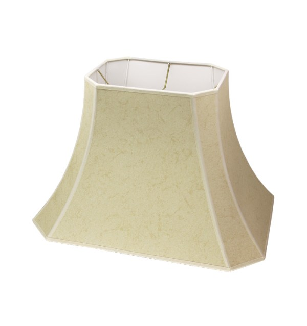 Cut Corner Rectangle Bell Hardback Lampshade in Cream Paper