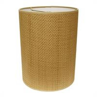 True Drum Hardback Lampshade in 964 Natural Raffia