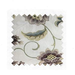 Cream Jacquard Floral Silk