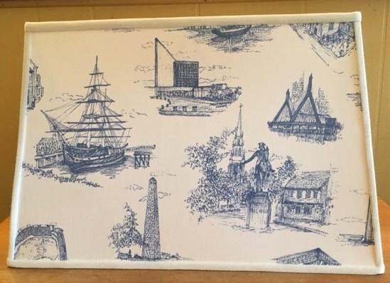 Boston Toile Sharp Corner Rectangle Boats