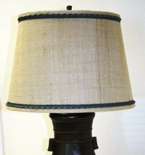 Custom Laminated Linen Lampshade