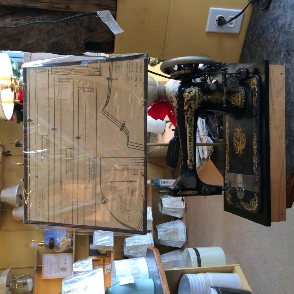 Custom Lamp Custom Shade Singer Sewing Machine