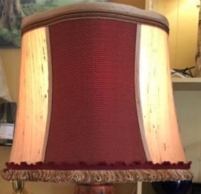 Custom Silk Oval Lampshade French