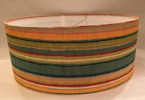 Shallow True Drum Lampshade with Custom Fabric