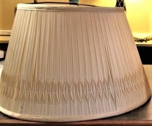 Silk Lampshade Repair Recover Before 3