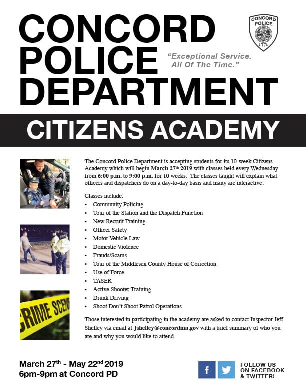 Concord Police Department Invites Residents to Join Citizens