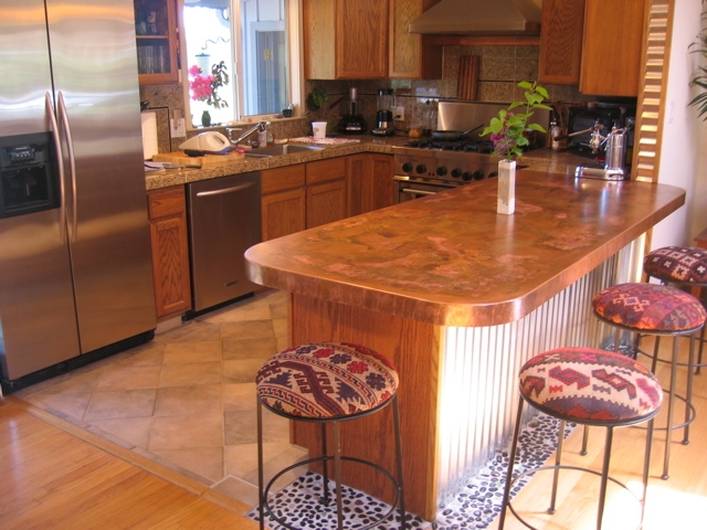 Copper and stainless countertop pricing concord sheet Granite countertops price per square foot