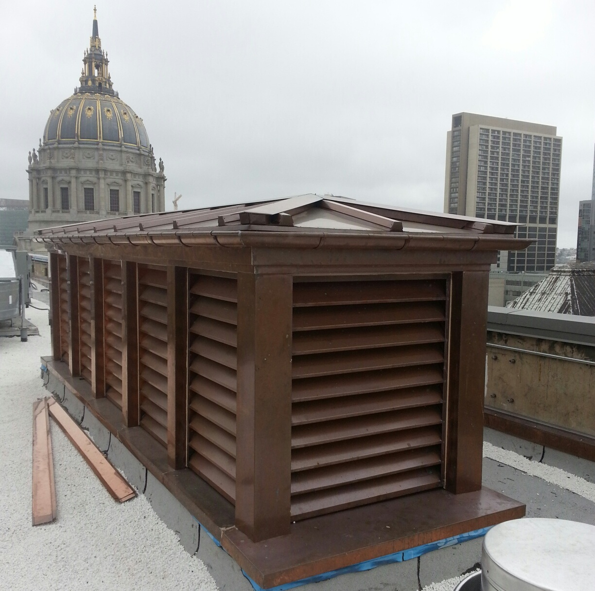 Doghouse 48 Oz Welded Copper Louvers For San Francisco War