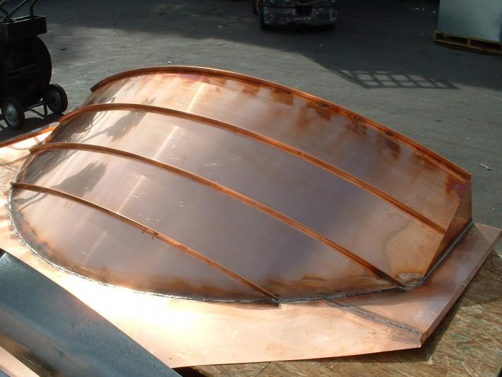 Standing Seam Copper Dormer Roof