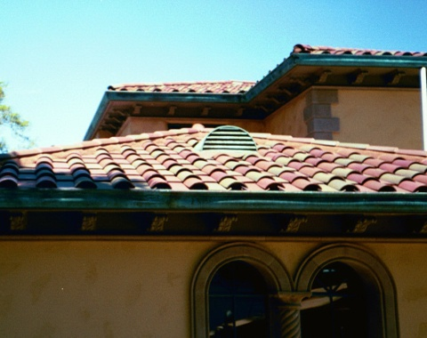 Copper Half Round Dormer Vent With Green Over Brown Patina